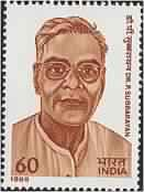 Dr. P. Subbrayan Personality, Politician, Freedom Fighter, Diplomat, Chief Minister, Governor, Indian National Congress 60 P. Indian Stamp