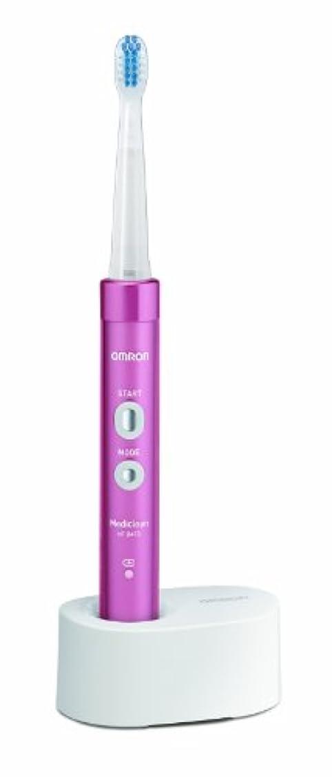 尾豊富なレイアオムロン 音波式電動歯ブラシ メディクリーン HT-B473-PK ピンク