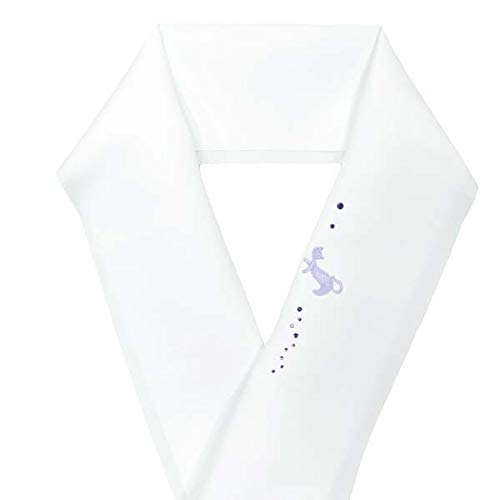 刺繍半衿【Swarovski スワロフスキークリスタル×刺繍半衿 15555】2.猫ライン/紫