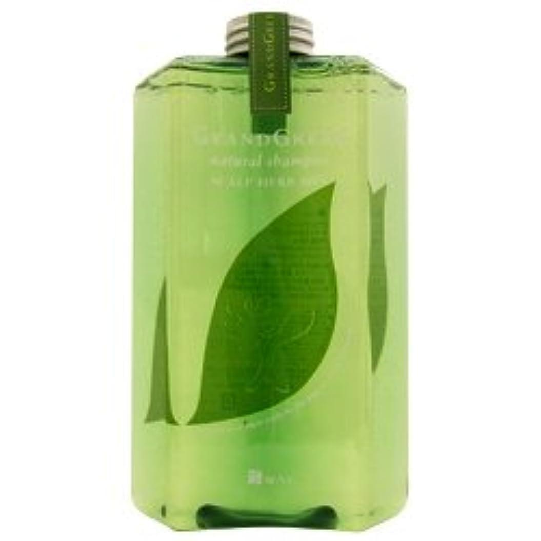 自治吸い込む容器ニューウェイジャパン グラングリーン ナチュラルシャンプー 560ml  ポンプ付 NewayJapan
