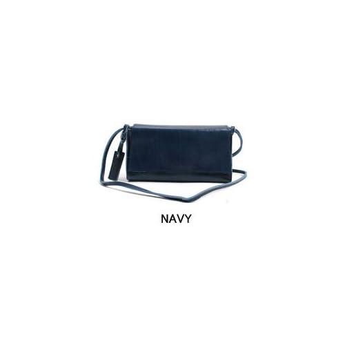 [BAG]本革の良さを十分に味わえるシンプルなミニポシェット 手が自由になる斜めがけバッグ 本革 カジュアルバッグpk-1002 (NAVY)