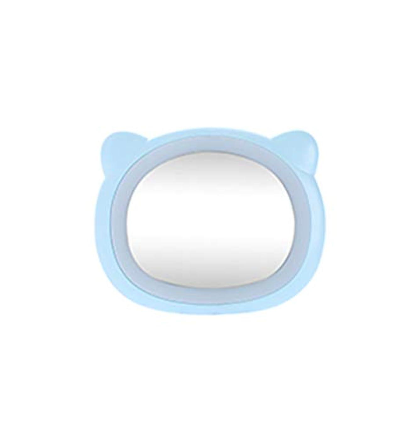 思い出させるオフ後旅行化粧鏡コンパクトミラー付きLEDライト美容化粧品キャンプハンドヘルドライトUSB充電式