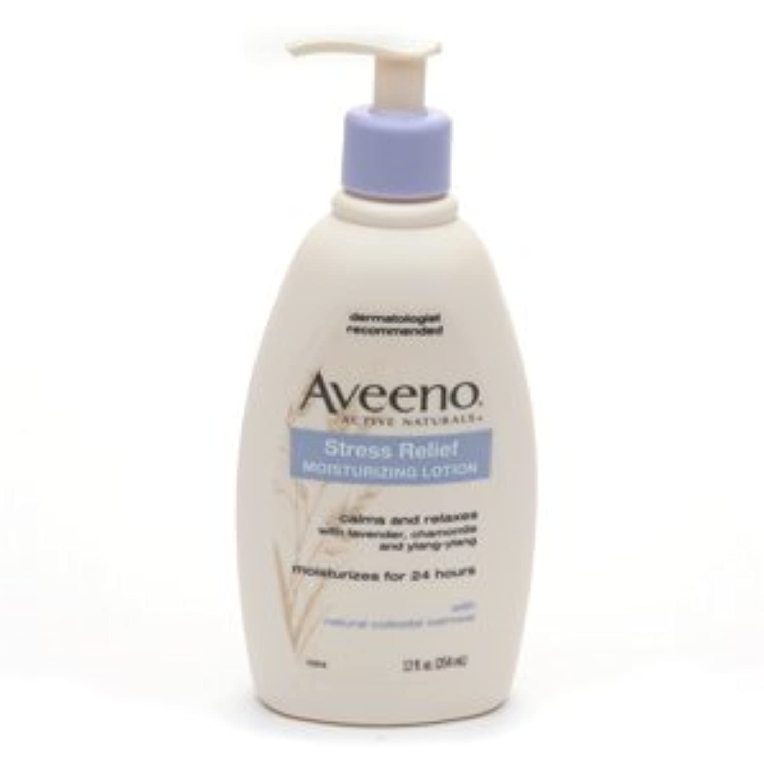ゲインセイ魅惑的なペデスタルAveeno - Stress Relief Moisturizing Lotion - 12 fl oz (354 ml)