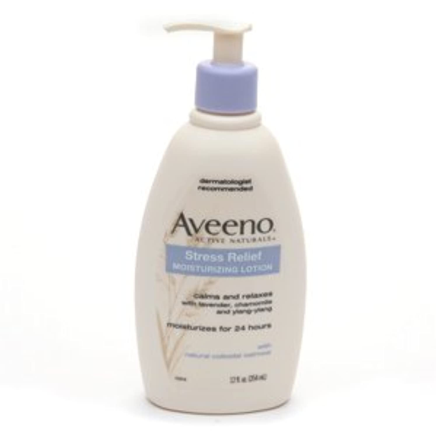 応用予防接種する回転Aveeno - Stress Relief Moisturizing Lotion - 12 fl oz (354 ml)