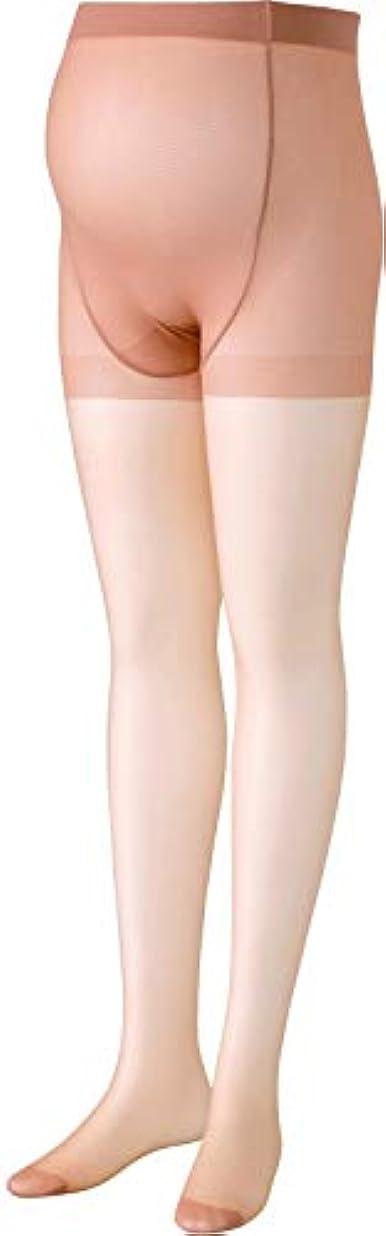 情熱的パイプへこみワコール (Wacoal) マタニティ ストッキング パンスト (日本製) 産前 [ おなか楽々タイプ ] 伸びる素材 妊娠初期~後期まで M オークル MLP281 OC