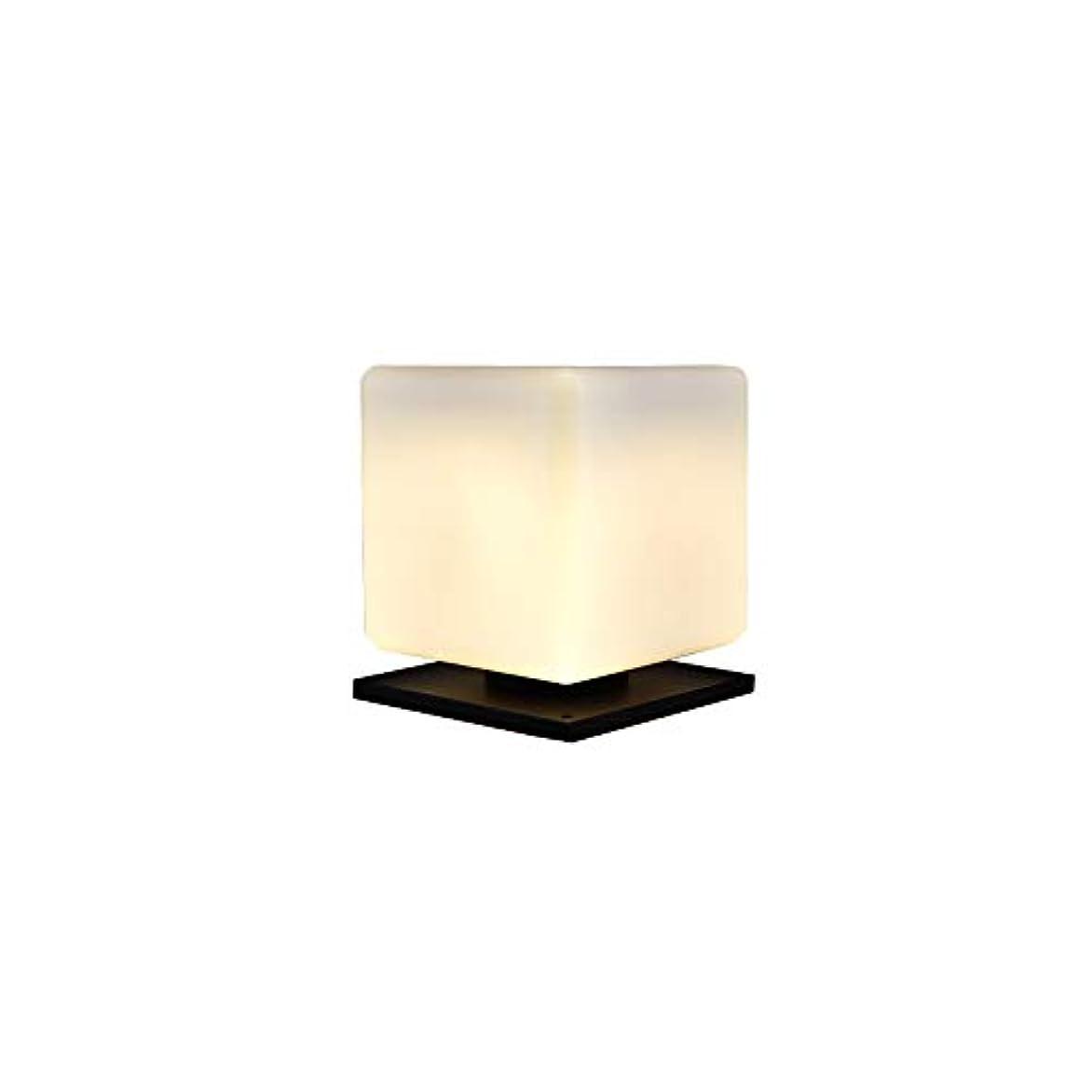 顔料探偵うねるPinjeer E27ソーラー防水アウトドアスクエア2色の調光コラムライト現代のシンプルな金属のアルミアクリルポストライトガーデンホームヴィラ装飾柱ランプ (サイズ : M)