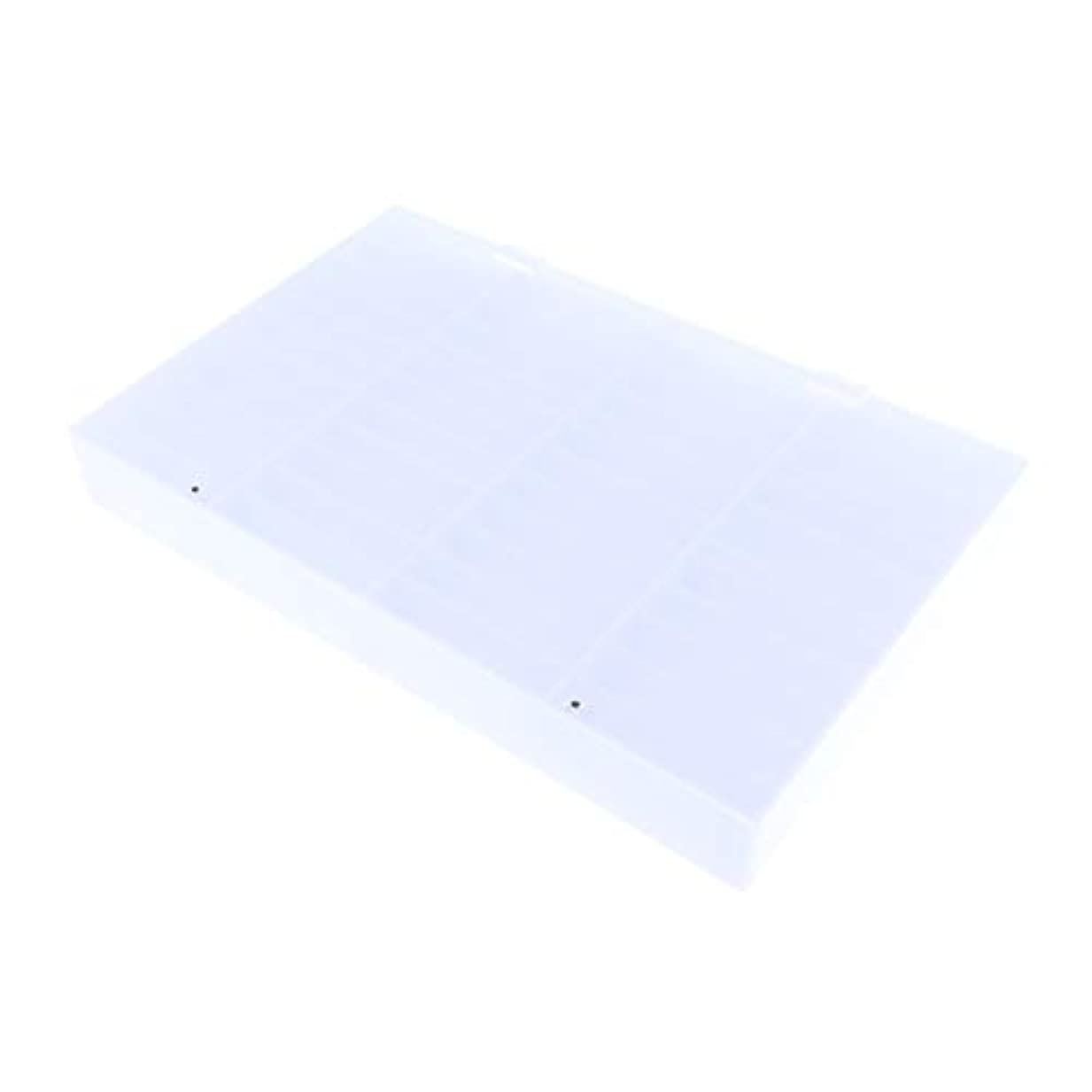 流用する多年生不規則性CUTICATE 収納ボックス ネイルチップ 収納容器 44仕切り ネイルアート ディスプレイケース 耐久性 実用性