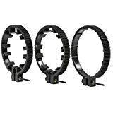 Movo fr3調節可能な3ピースFollow Focus Ring Gearセット–Includes 65mm、75mmと85mmレンズリング(標準32ピッチ–0.8Mod)