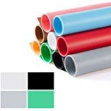 Meking 撮影用 PVC 背景布 バックペーパー 4色セット(ホワイト、グレー、グリーン、ブラック)