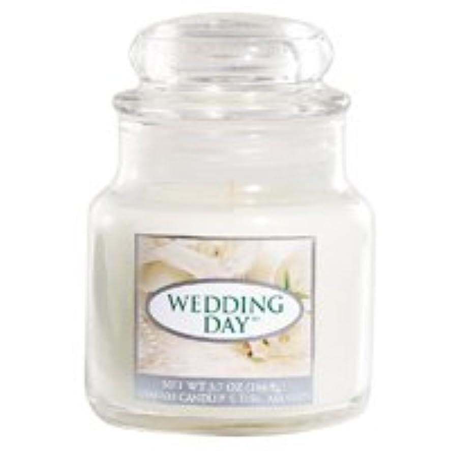 電気的蒸気割り込みYANKEE CANDLE(ヤンキーキャンドル) ジャー入りキャンドル Sサイズ 「12 ウェディングデイ-WEDDING DAY-」 4901435937663