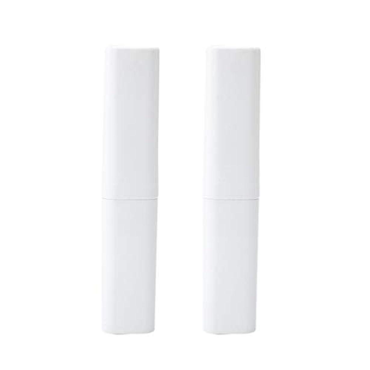 若さたらい役立つHealifty 旅行の歯ブラシケース屋外2ピース(白)のポータブル歯ブラシボックス