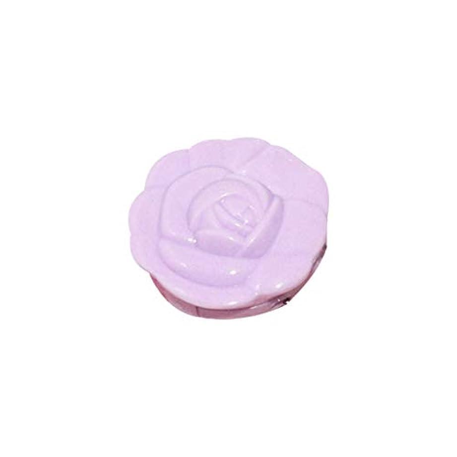 フォアタイプ著作権フェミニンDabixx ローズフラワーシェイプ空アイシャドウケースルージュ口紅ボックス顔料パレットキャンディーカラー化粧品化粧品包装ボックス付きミラーキーホルダー - 3#