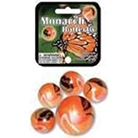 Monarch Butterfly Game Net Set 25 Piece Glass Mega Marbles Toy