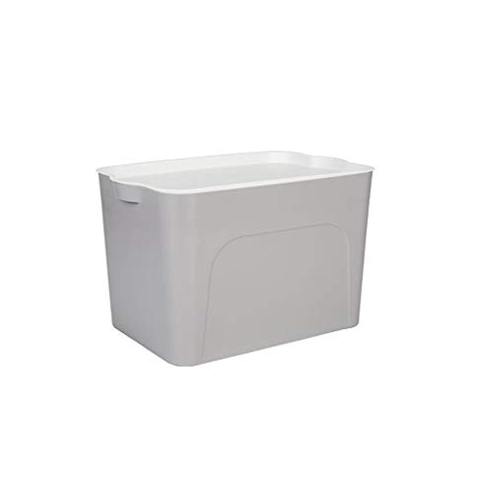窓を洗う分裂け目家庭用プラスチック材料に適した屋根付き収納ボックス服仕上げボックス、3色3サイズ SMMRB (色 : グレイ ぐれい, サイズ さいず : S s)