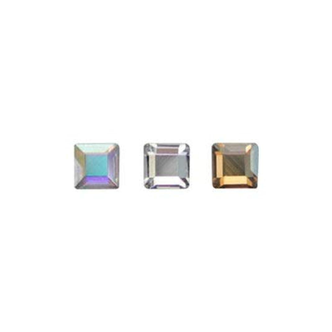 計画的ディスク長さSWAROVSKI #2400 スクエア アソート 2.2mm 3色×各10粒