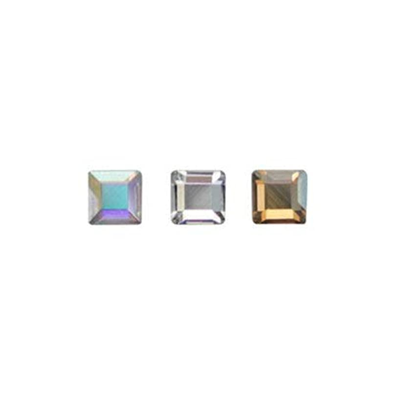 ダッシュ構成インフルエンザSWAROVSKI #2400 スクエア アソート 2.2mm 3色×各10粒