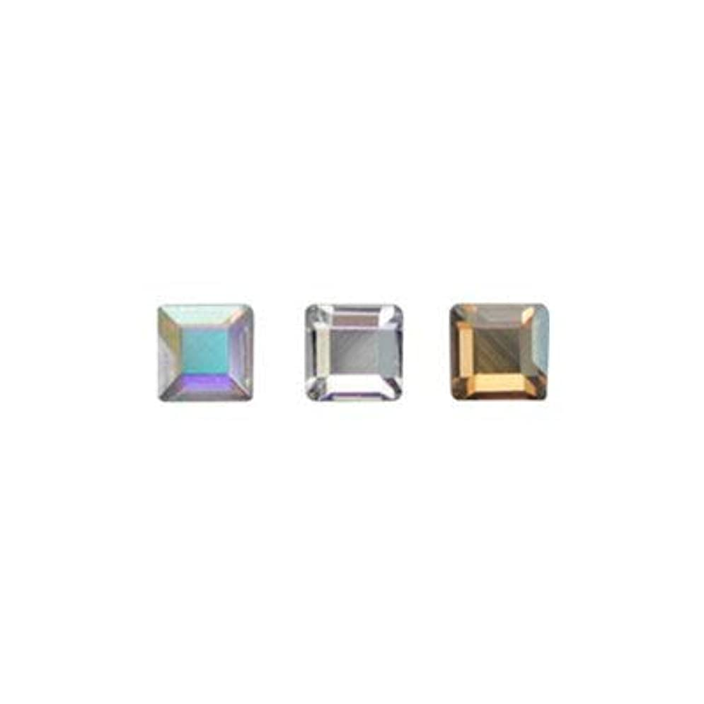 曲呪いアッティカスSWAROVSKI #2400 スクエア アソート 2.2mm 3色×各10粒