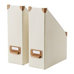 IKEA (イケア) FJALLA マガジンファイル オフホワイト 2ピース 40292006