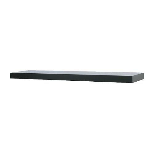 IKEA(イケア) LACK ブラック 80186198 ウォールシェルフ、ブラック