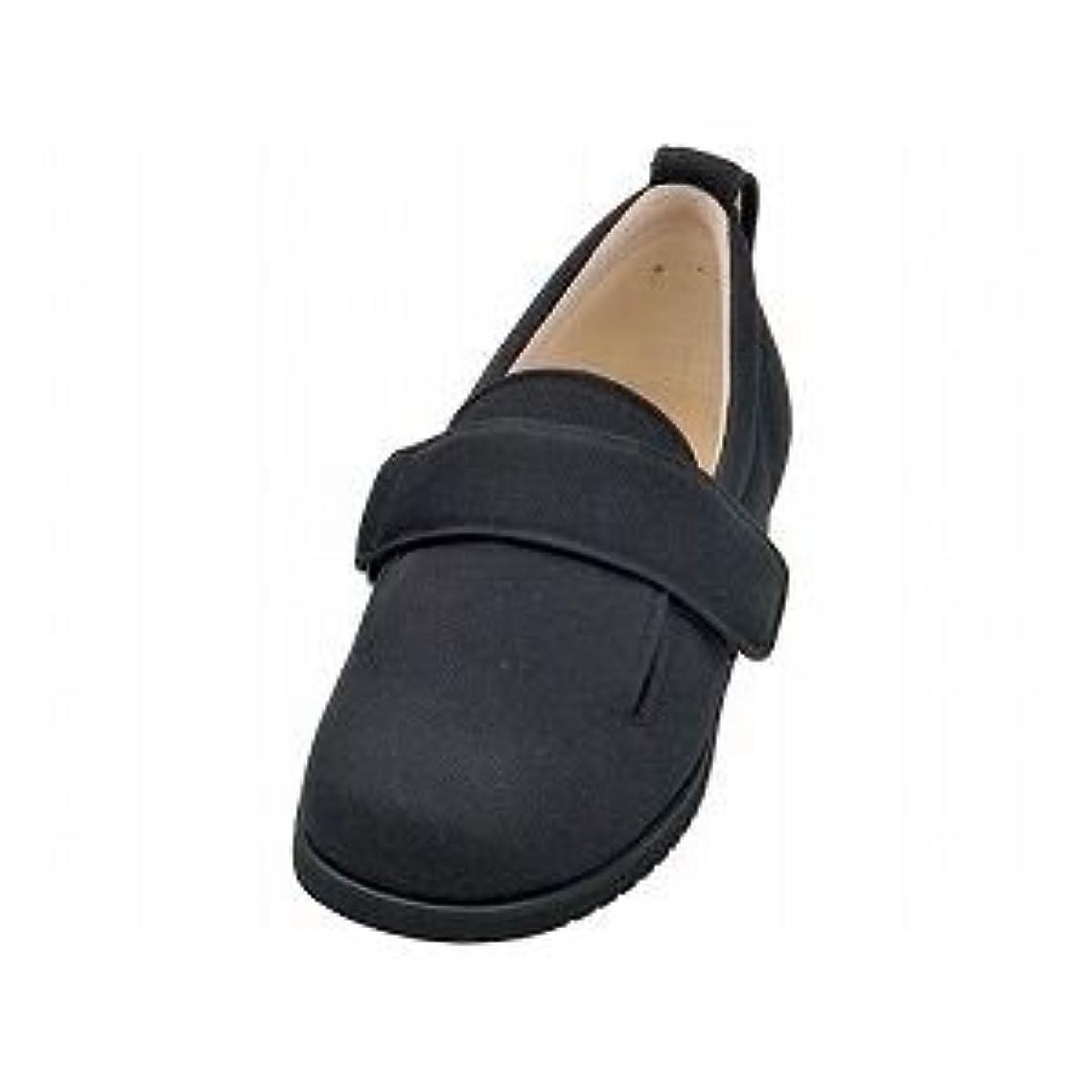 だらしない水っぽい入手します介護靴 施設?院内用 ダブルマジック2 3E 1017 片足 徳武産業 あゆみシリーズ /3L (25.0~25.5cm) ブラック 左足