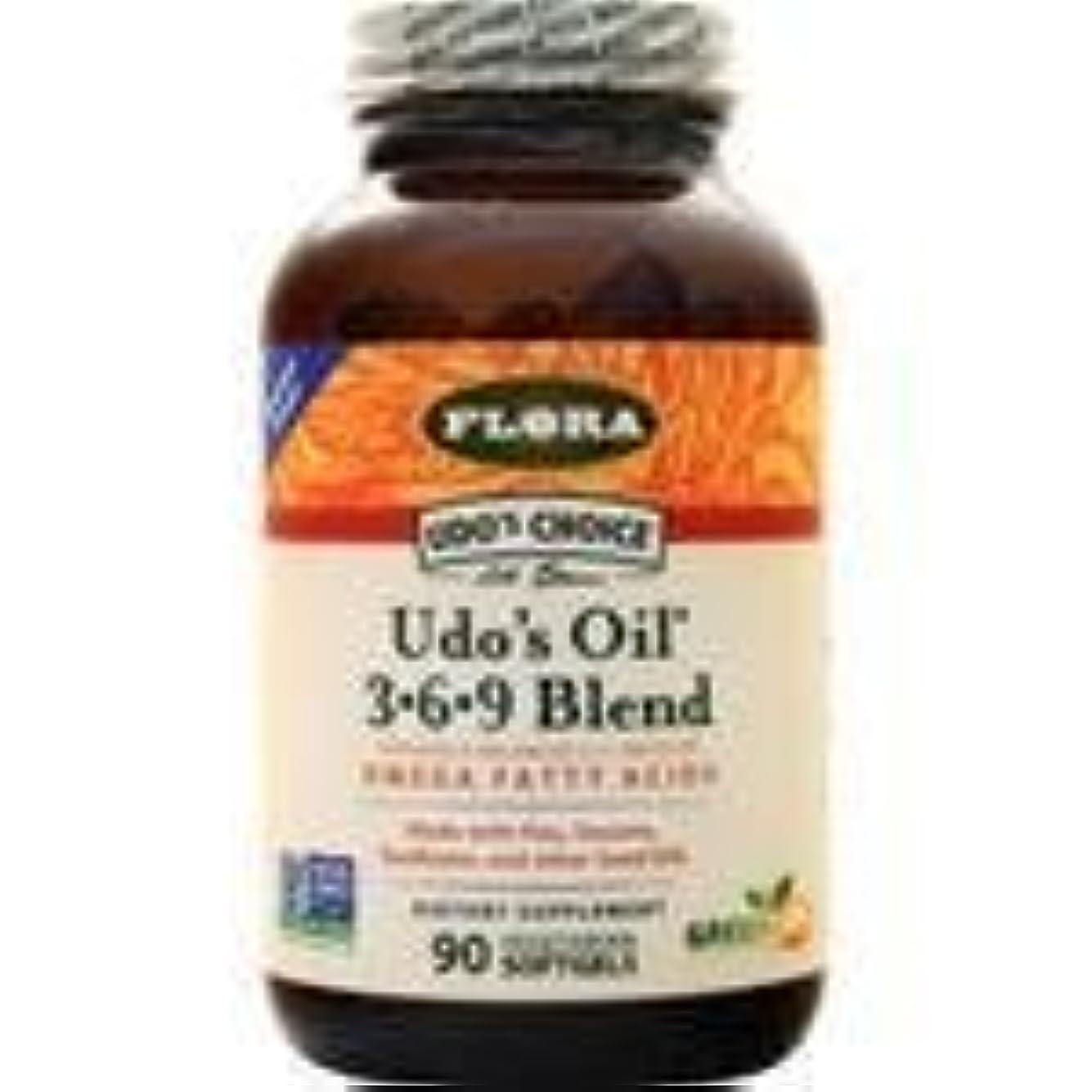 私の頂点反応するUdo's Choice Udo's Oil 3-6-9 Blend 90 sgels 2個パック