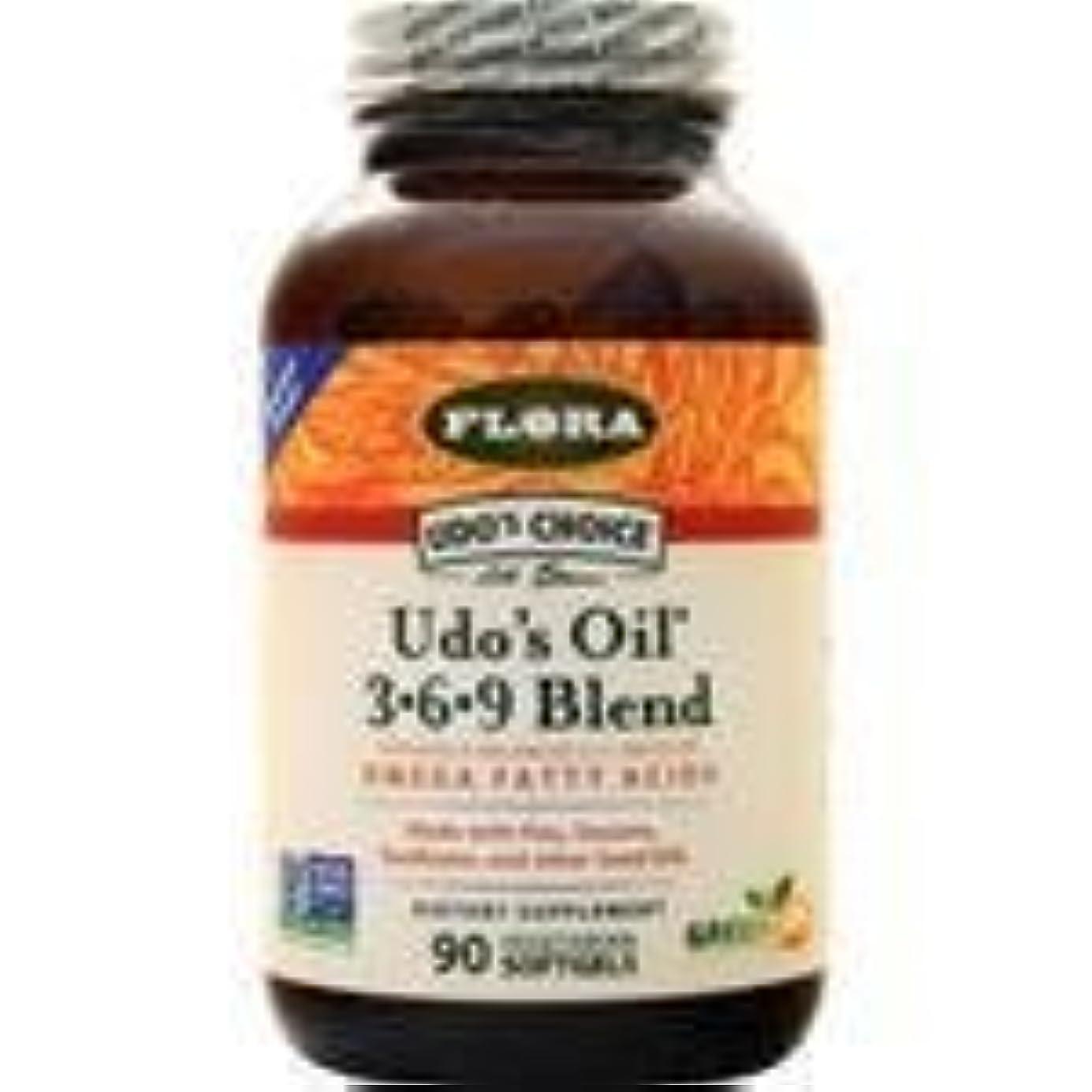 治す憤る不十分Udo's Choice Udo's Oil 3-6-9 Blend 90 sgels 2個パック