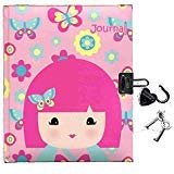 Kimmidoll TeenまたはトゥイーンロックSecret Dear Diary for Girls – Withハート型ロックとキー – Great Stocking Stufferまたはギフト – 160 lined 5 x 7インチページ – 文字はEllie