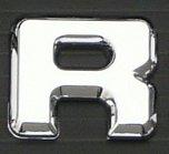 ベンツロゴエンブレム クロームメッキ (アルファベットR)