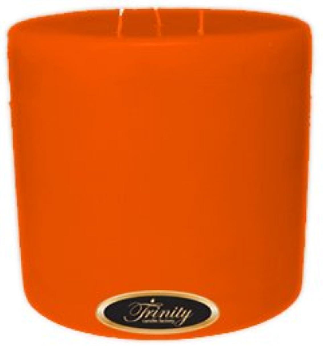 強制的数学異形Trinity Candle工場 – フロリダオレンジ – Pillar Candle – 6 x 6