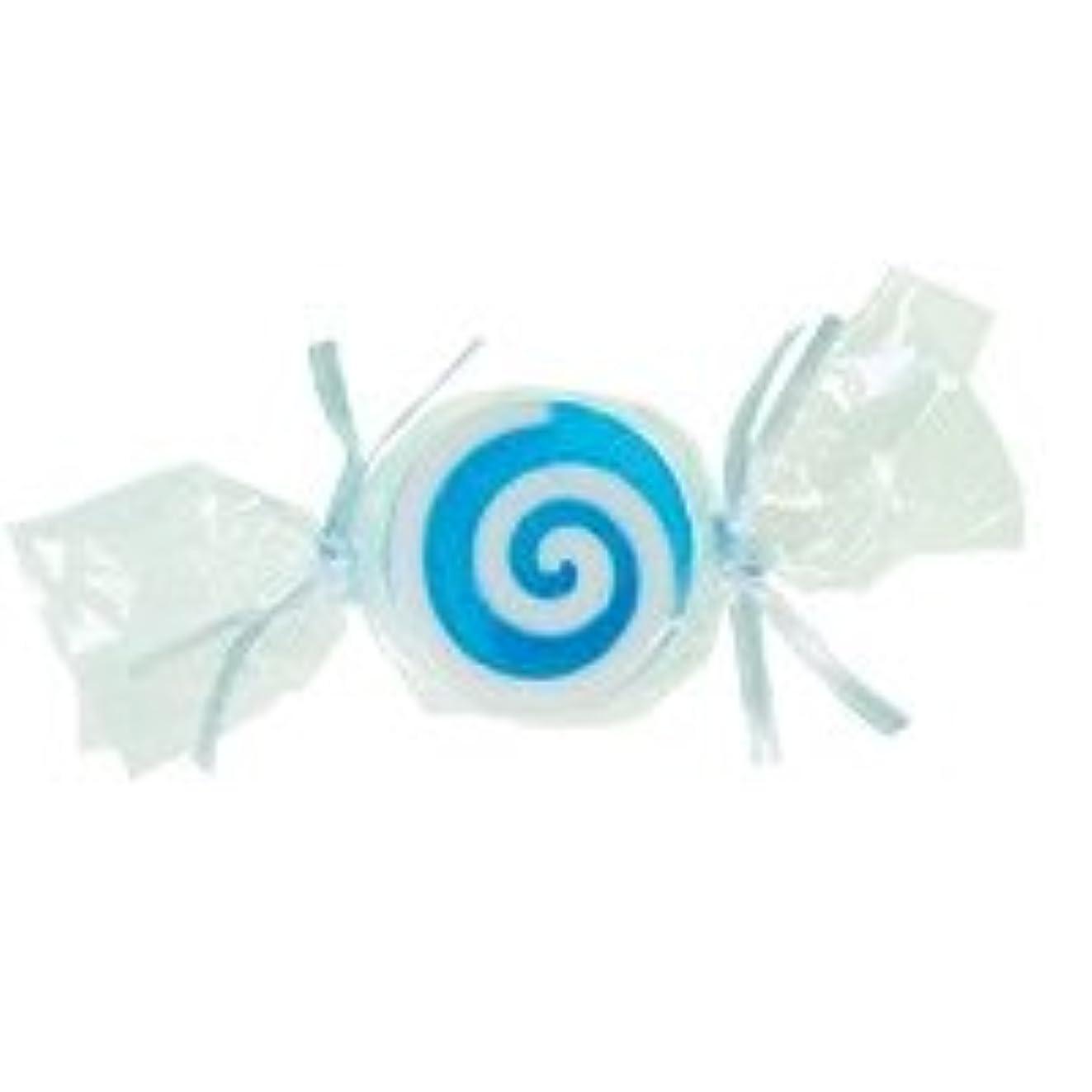 印象的なピン折り目ベジタブルソープ キャンディ「ブルー」20個セット ハニーメロンの香り