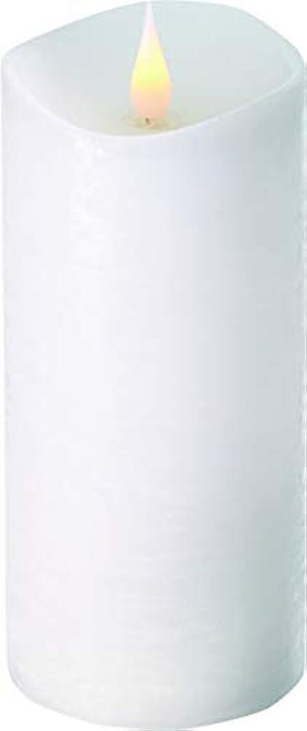 謙虚なオークランドオークランドエンキンドル 3D LEDキャンドル ラスティクピラー 直径7.6cm×高さ18.5cm ホワイト