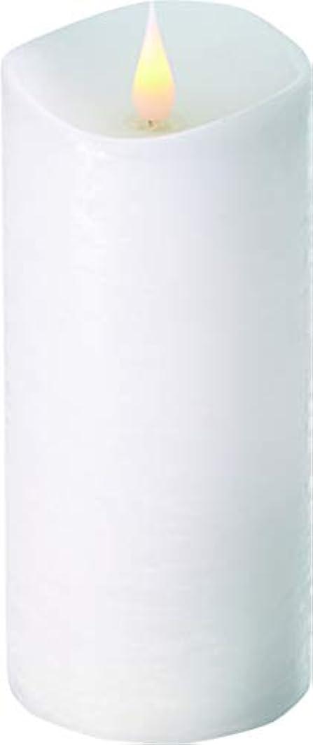 咳狂乱原油エンキンドル 3D LEDキャンドル ラスティクピラー 直径7.6cm×高さ18.5cm ホワイト