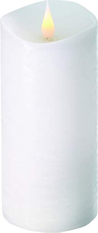 アークシャット協同エンキンドル 3D LEDキャンドル ラスティクピラー 直径7.6cm×高さ18.5cm ホワイト