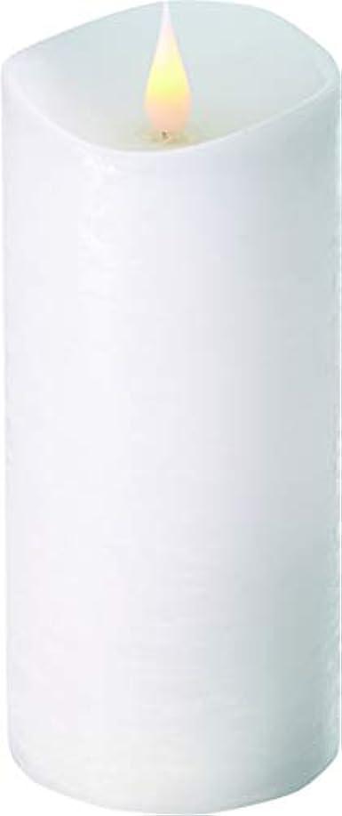 増強ジョージスティーブンソンビュッフェエンキンドル 3D LEDキャンドル ラスティクピラー 直径7.6cm×高さ18.5cm ホワイト