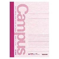 コクヨ ノ-3CA-P キャンパスノート(カラー表紙)6号(セミB5)A罫30枚 ピンク 10冊セット