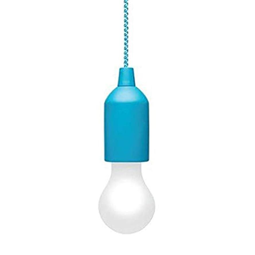 ベリ性別脈拍カラフルなLED電球シャンデリアポータブルLEDプルコード電球屋外ガーデンキャンプハンギングLEDライトランプ-ブルーマルチカラーライト
