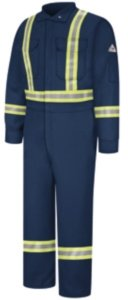 Bulwark Deluxe Coverall, Excel FR ComforTouch, 9 oz., NAVY, RG50 by Bulwark FR