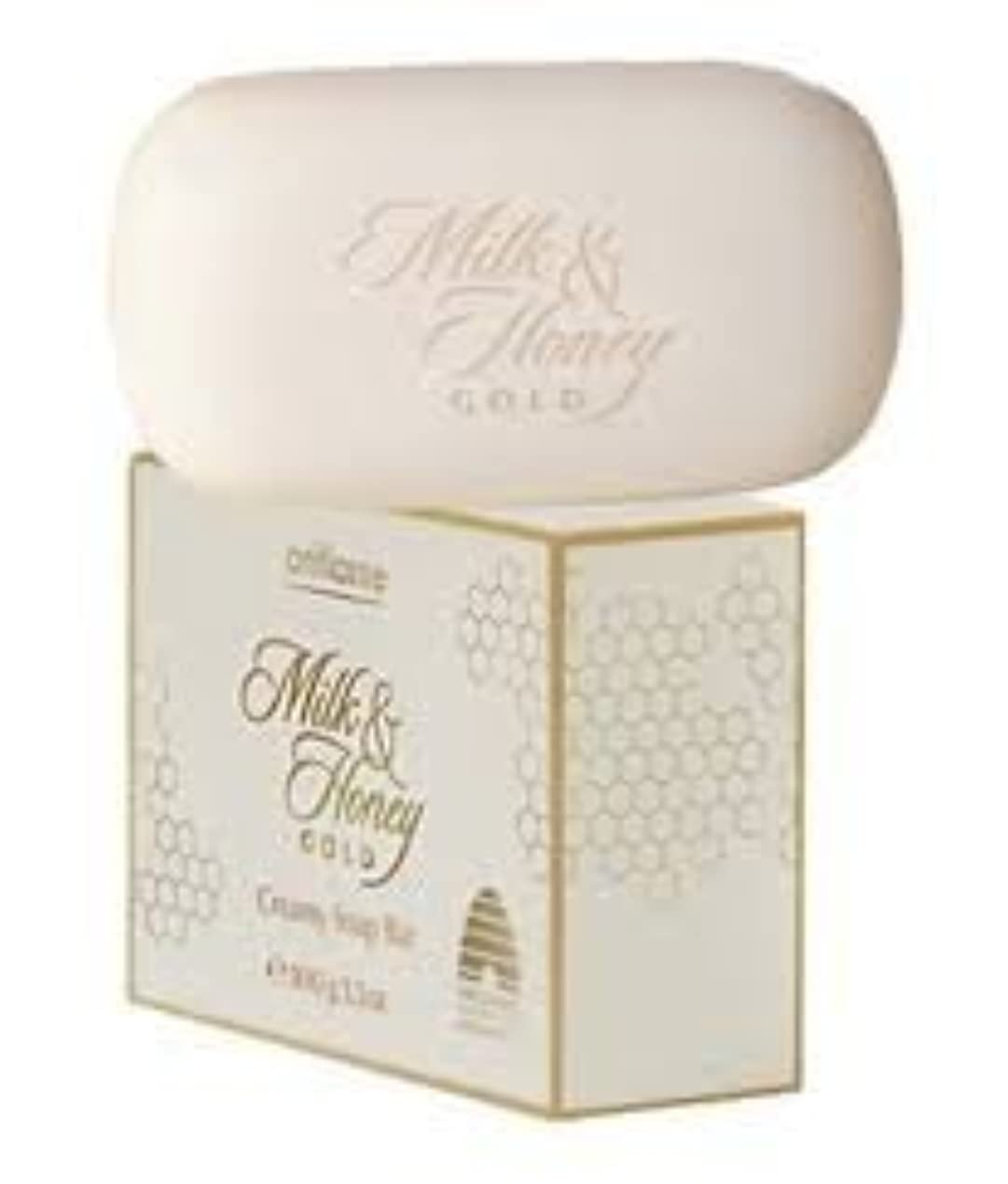 ギャラントリー競争力のある検出Oriflame Milk & Honeyゴールドクリーミーソープバー100 g