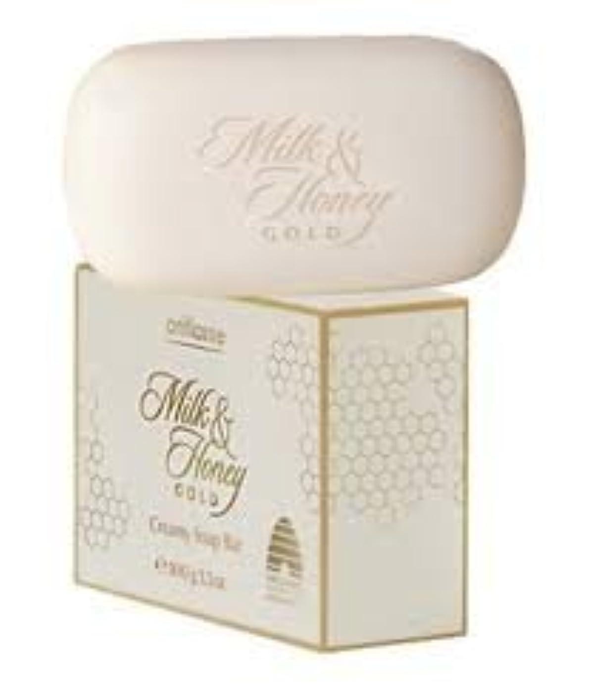 メニュー豪華な追記Oriflame Milk & Honeyゴールドクリーミーソープバー100 g