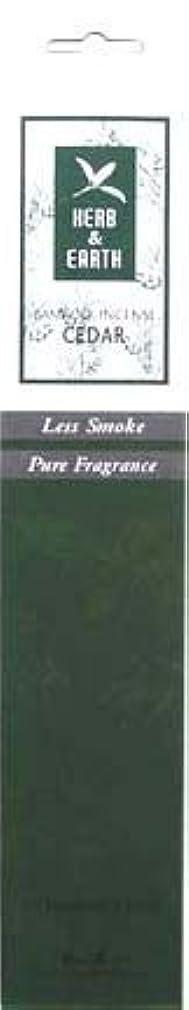 石の空中妊娠したHerb & Earth Incense – Cedar