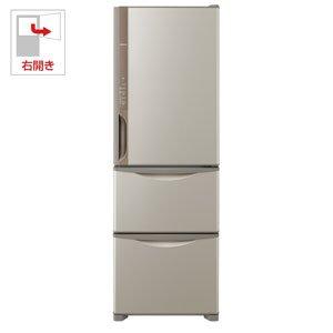 日立 375L 3ドア冷蔵庫(ライトブラウン)【右開き】HIT...
