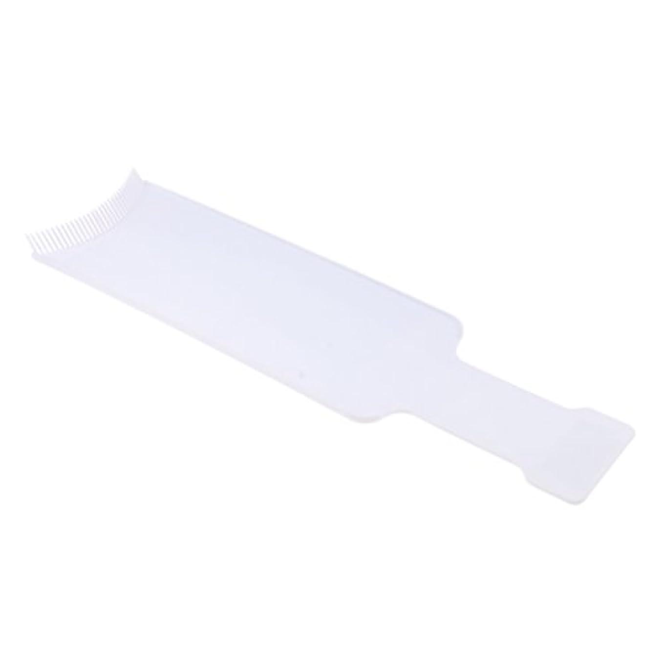 Fenteer 染色櫛プレート 染めボード ヘアカラー 櫛 着色ボード ヘアブラシ ヘアコーム 便利 2サイズ2色選べる - L, 白