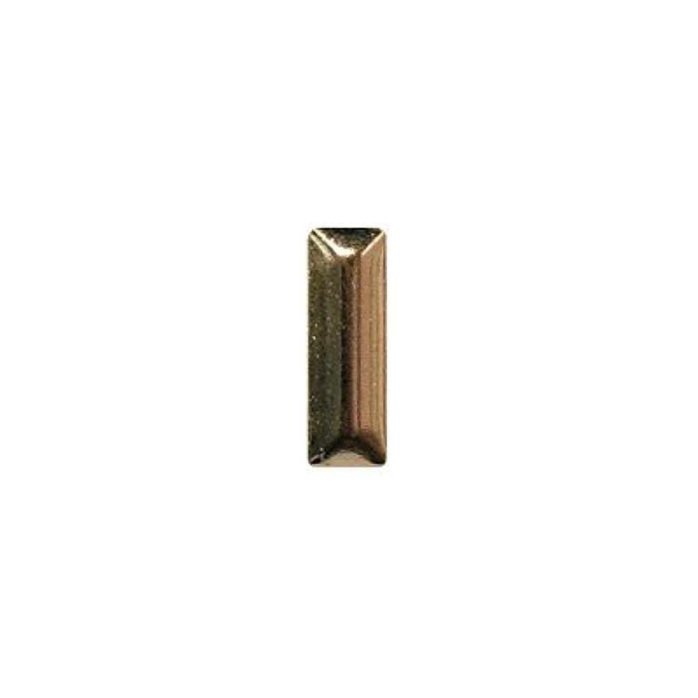 腫瘍ペパーミントステレオピアドラ スタッズ メタル長方形 2×6mm 50P ゴールド