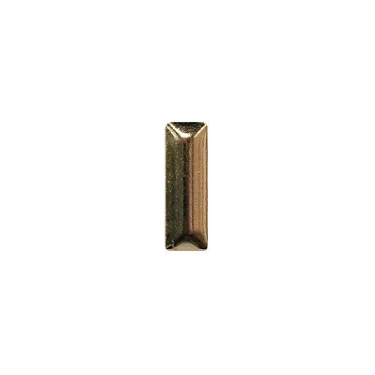 肺炎セマフォレザーピアドラ スタッズ メタル長方形 2×6mm 50P ゴールド