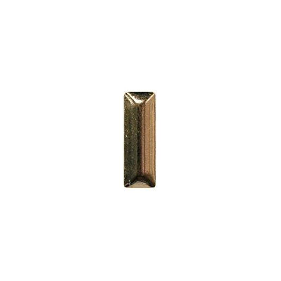 いらいらするビュッフェペットピアドラ スタッズ メタル長方形 2×6mm 50P ゴールド