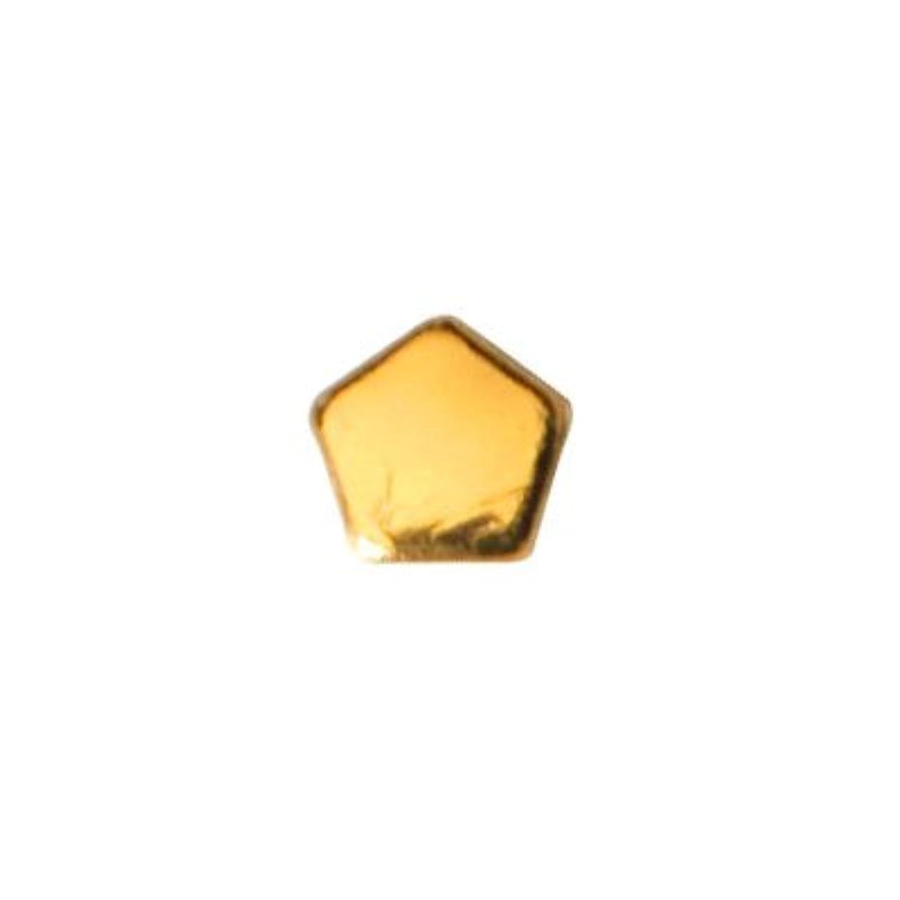 気味の悪いモトリー暴力的なピアドラ スタッズ ペンタゴン 2mm 50P ゴールド