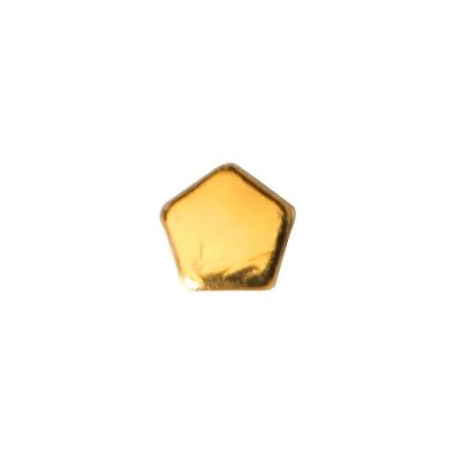 余剰一定彫刻ピアドラ スタッズ ペンタゴン 2mm 50P ゴールド