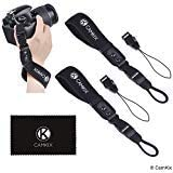 Wrist Straps for DSLR and Compact Cameras - 2 Pack - Extra Strong and Durable - Comfortable Neoprene Bracelet - Adjustable Fi
