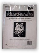 Scratchboard Black 10 Sheet Pkg 8.5X11