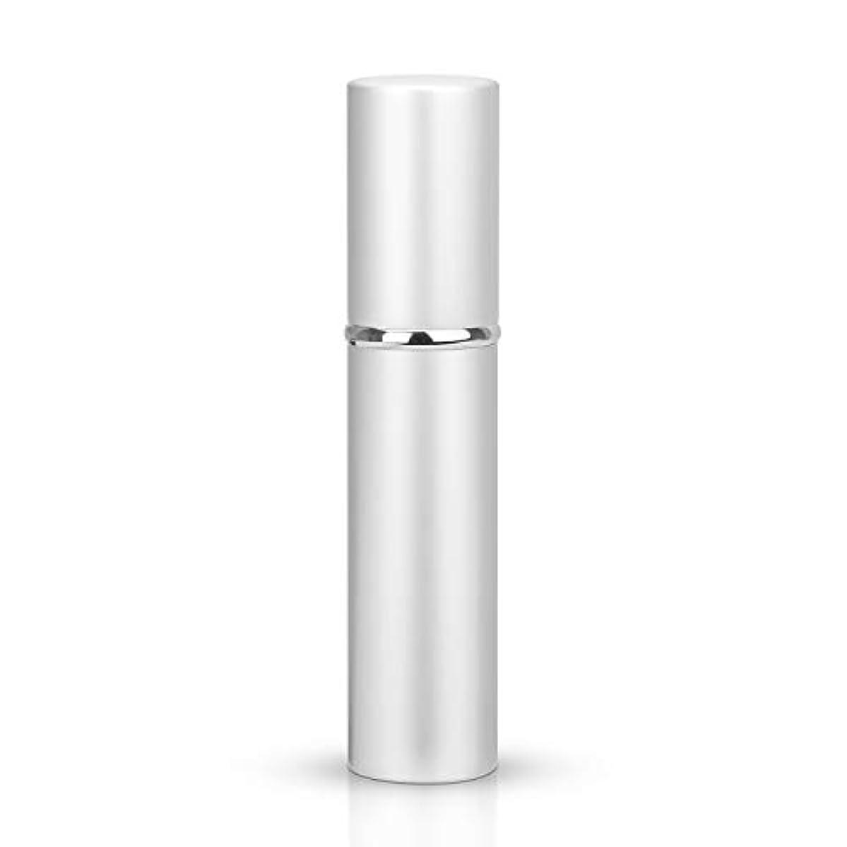 堀ラフ睡眠現金Louischanzl アトマイザー 香水スプレー 噴霧器 詰め替え容器 底部充填方式 携帯用5ml (Silver-シルバー)